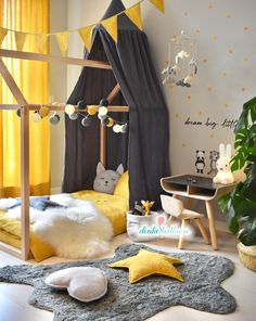 In order to get an effective result in kids room decoration, some basic things need to be paid attention. For example, the kids room need to have the … - Beautiful Kids Bedroom Design That Will Make Kids Happy Baby Bedroom, Baby Boy Rooms, Baby Room Decor, Girls Bedroom, Bedroom Decor, Bedroom Yellow, Kid Bedrooms, Kids Wall Decor, Playroom Decor