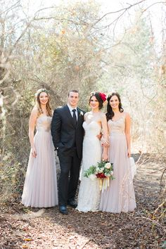 Romantic #Bridal Inspiration: Big, Bold Blooms + Gowns by Watters Photo: Allen Tsai Photography #wedding #weddings #weddingdress #weddinggown #bridesmaid