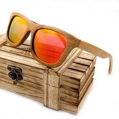 6e6a1192805 Bobobird Vintage Bamboo Wooden Sunglasses Handmade Polarized Mirror Coating Lenses  Eyewear in Wood Box