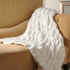 Ruched Faux Fur Throw at HSN.com.
