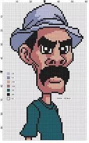 Resultado de imagem para punto cruz patrones virgen aparecida Mini Cross Stitch, Modern Cross Stitch, Cross Stitch Embroidery, Cross Stitch Patterns, Perler Bead Art, Hama Beads, Pixel Art Templates, Stitch Cartoon, Minecraft Pixel Art