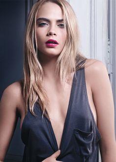 Cara Delevingne pour YSL / Volupté tint-in-oil / Huile à lèvres #new