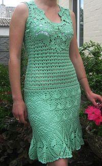 Crochetemoda: Crochet - Vestido Verde                                                                                                                                                                                 Mais
