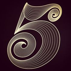 5 - Numbers Graphic Design - Lettering - by Luke Lucas Cool Typography, Typographic Design, Typography Letters, Graphic Design Typography, Lettering Design, Hand Lettering, Typography Inspiration, Graphic Design Inspiration, Art Mots