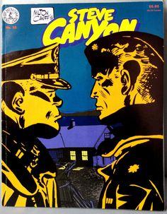Milton CANIFF STEVE CANYON #16 & Scorchy Smith Cold War Era Jet Aviation Action Adventure Newspaper Comic Strip Reprints Kitchen Sink