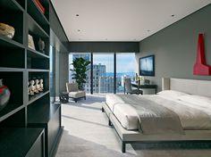 Logement de ville situé sur les hauts étages d'un gratte-ciel