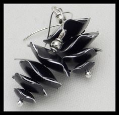 RORY  Handforged Black Aluminum Stacked by sandrawebsterjewelry