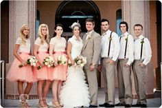Wedding colors for Pink, Peach and Cream - Photo Courtesy of Burnt Exposure Photography