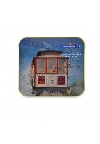 Cable Car Postcard Tin with Assorted SQUARES - 6 pc