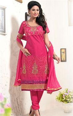 Picture of Fashionable Pink Wedding Salwar Kameez