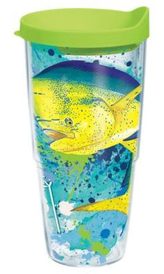 Tervis Tumbler Guy Harvey Dorado Splatter Insulated Wrap with Lid - 24 oz.