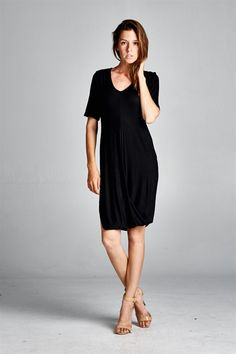 Imogen Dress in Black | Women's Clothes, Casual Dresses, Fashion Earrings & Accessories | Emma Stine Limited