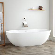"""70"""" Eira Resin Freestanding Tub - Gloss Finish"""
