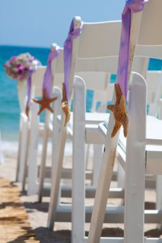 Summer Style: Decorating with Starfish, beach wedding starfish decor in 2014 Beach Wedding Aisles, Wedding Aisle Decorations, Our Wedding, Destination Wedding, Dream Wedding, Beach Weddings, Starfish Decorations, Wedding Ideas, Pew Decorations