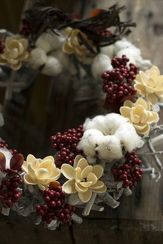 Southern wreath with cotton