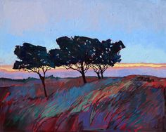 "Bold Impressionism Modern Artwork Large Landscape Original Oil Painting Erin Hanson 60"""