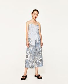 Image 1 of PRINTED CULOTTES from Zara