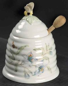 Lenox Butterfly Meadow Honey Pot with Lid