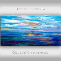Huge original Oil painting Modern deco Impasto by elsestudio, $358.00