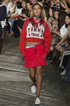 Hailey Baldwin for Tommy Hilfiger fall/winter 2016 collection - New York fashion…