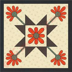 Texas Mexican Rose Quilt Pattern | Quilt Blocks of Texas
