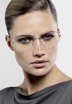 No frills, please (Lindberg eyewear) Eyewear Trends, Women's Eyewear, Titanium Glasses, Eye Center, Golden Eyes, Uzzlang Girl, Designer Eyeglasses, Girls With Glasses, Soft Summer