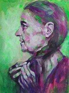 Original Artwork by Luzdy Rivera. Indigenous, Native American, Bold Color Painting Original Artwork, Original Paintings, Portrait, Bold Colors, Paint Colors, Native American, The Originals, Paint Colours, Headshot Photography