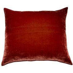 Silkevelour pude i paprika rød 60/70 cm - Floor45