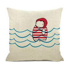Swimmer Cushion Cover