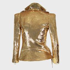Balmain gold glitter jacket