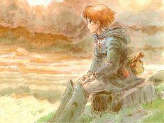 Definitely one of the underappreciated Miyazaki films but absolutely gorgeous-Nausicaa Hayao Miyazaki, Studio Ghibli Films, Art Studio Ghibli, Totoro, Nausicaa, Photo Bretagne, Castle Painting, Fanart, Film D'animation