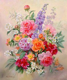 bodegones-pinturas-realistas-de-flores-al-oleo
