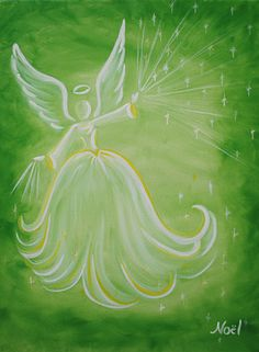 Dancing Angel Art - Noel Cornelia Fine Artist - angel paintings, prints and other artwork Easy Paintings, Angel Paintings, Archangel Gabriel, Angel Crafts, Winter Painting, Christmas Paintings, Angel Art, Painting Inspiration, Painting & Drawing