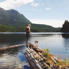 """""""Unwin Lake is in the middle of Desolation Sound Park and is only reached by boat via a small hike or a float plane. Is it just me, or is there something about diving into a freshwater lake that makes you feel like a kid again?"""" - BC #guestagrammer @meandertheworld #explorebc #explorecanada #Padgram"""
