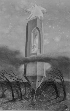 La Torre de Marfil , 1957. – Remedios Varo