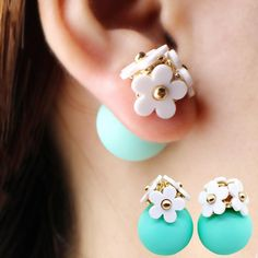 Summer Flower Double Stud Earrings from styledrestyled.com
