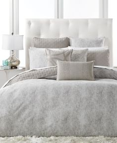 Featuring velvety-soft cotton finished with a stylish gray tone, this Eclipse full/queen duvet cover from Hotel Collection transforms your bedroom into a serene space with a modern look and feel. | Co