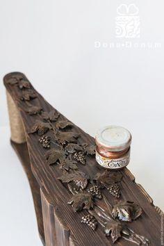 Мастер-класс: декорируем винный короб «Виноградная лоза» - Ярмарка Мастеров - ручная работа, handmade