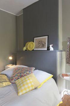 Peinture de t te de lit sur pinterest for Peindre un lit en bois
