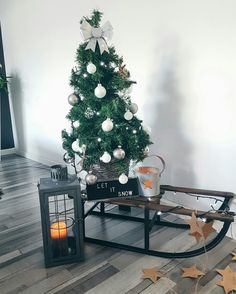 kerstboompje op je slee