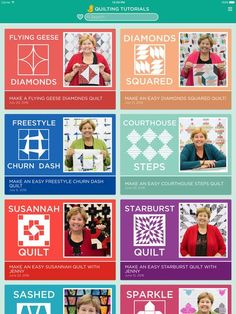 Quilting Tutorials by Missouri Star Quilt Company on the App Store Crazy quilt X's and O's Jenny Doan Tutorials, Msqc Tutorials, Quilting Tutorials, Star Quilt Patterns, Star Quilts, Amish Quilts, Quilt Blocks, Embroidery Patterns, Quilting For Beginners