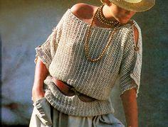 Şimdi sizlere paylaşacağım bu Bayan Merserize Örme Bluzu çok şık ve çok havalı. Modern bir Bluz. modeldeki bayan etek, takı ve şapka ile harika kombine etmiş. Bence ip rengini de tam seçmiş.Merser…