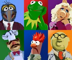 Muppets Vector by tjjwelch on DeviantArt Muppet Babies, Fraggle Rock, The Muppet Show, Jim Henson, Miss Piggy, Kermit The Frog, Kids Tv Shows, Vector Portrait, Libros
