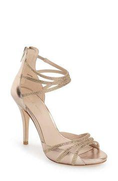 8f348f73a9e0 Pelle Moda  Jolene  Crystal Embellished d Orsay Sandal (Women) Open Toe