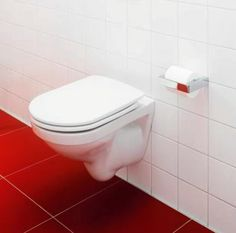 6023001 Gustavsberg  Gustavsberg Logic 5693 Vegghengt toalett Med hvitt lux-sete Luxor, Toilet, Bathroom, Washroom, Flush Toilet, Full Bath, Toilets, Bath, Bathrooms