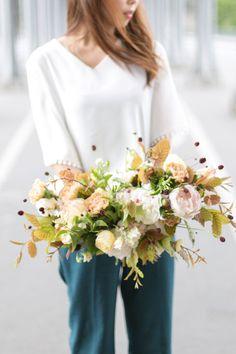 Flower school in Paris / flower class bouquet