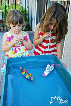 Duck Tape Boat Races are a wet and wild fun activity for kids!