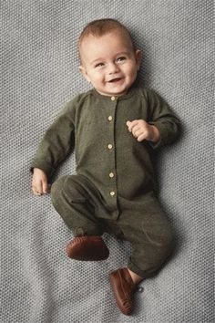 b12b6bb4707a Green Newborn Kids Baby Boys Long Sleeve Button Romper Jumpsuit Playsuit  Outfitdresskily