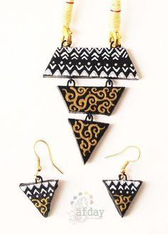 #Terracotta jewellery #earthy #ethnic