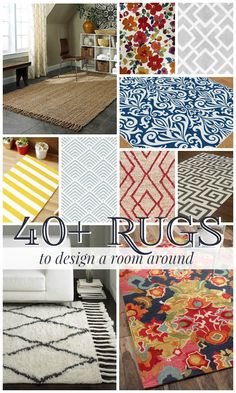 Bold, colorful, modern -- build a room around these great rugs! @Remodelaholic #spon #rugs #homedecor